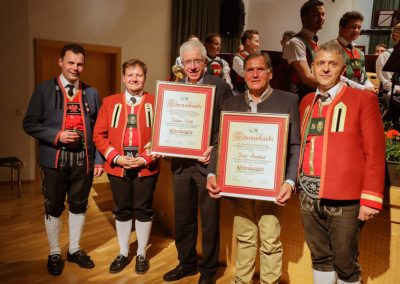 Auszeichnung Ehrenmitglieder Josef Knoflach und Johann Kiechl - Frühjahrskonzert 2019 - Musikkapelle Matrei-Mühlbachl-Pfons