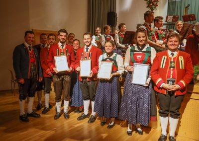 Auszeichnung der Jungmusiker - Frühjahrskonzert 2019 - Musikkapelle Matrei-Mühlbachl-Pfons